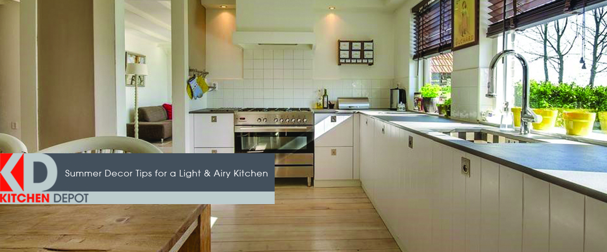 Large kitchen taking advantage of the natural lighting from the windows