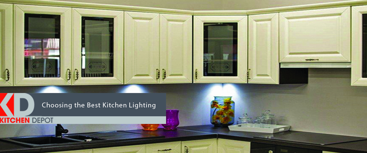 Accent lighting being used in the kitchen to accentuate features on the kitchen counter