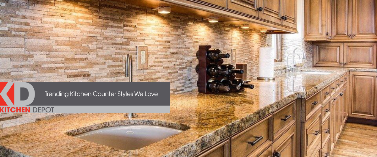 Stunning wooden kitchen cabinets with granite countertop