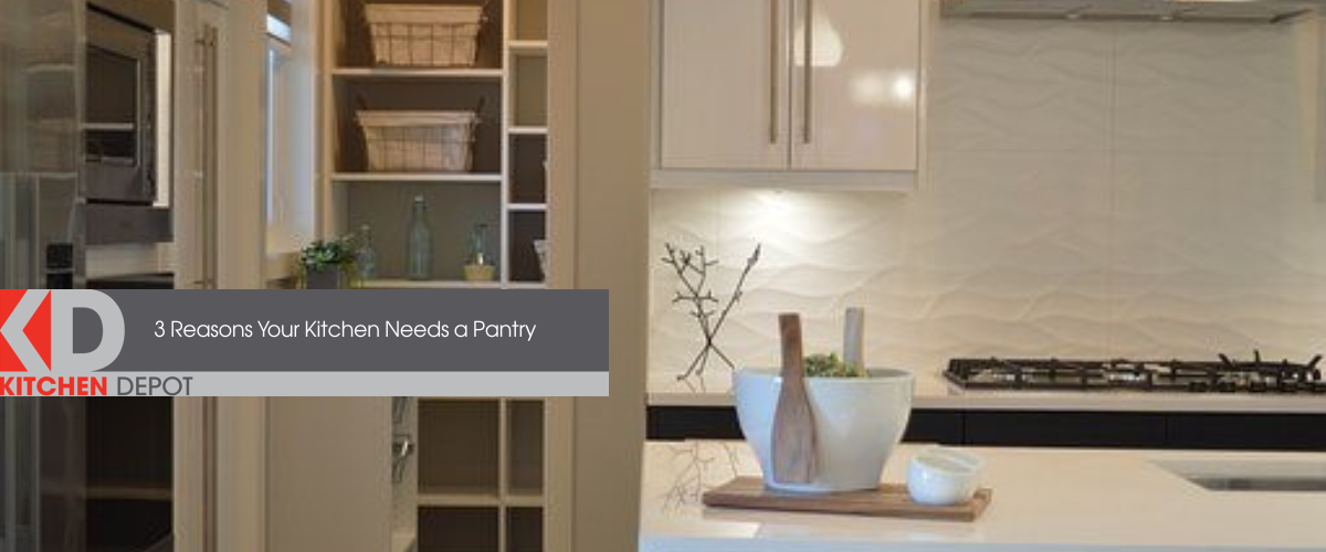 Kitchen entryway to a pantry