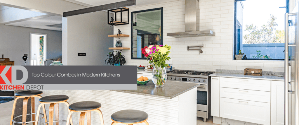Bright and colourful kitchen